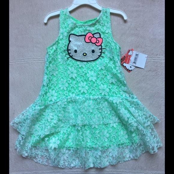 dd5d4ce2f Hello Kitty Dresses | Lace Overlay Dress Sz 5 Mint Green | Poshmark